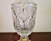Lovely, Vintage Crystal Table Lamp, Functional and Full of Grace and Cottage Charm