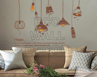 PEEL and STICK Removable Vinyl Wall Sticker Mural Decal Art - Lamp Decor