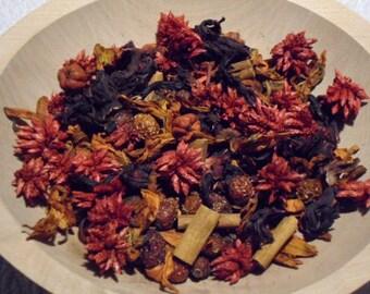 Red Hot Cinnamon rose hip potpourri  w/ refresher oil Primitive bowl fillers