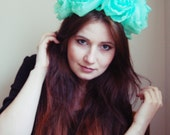 Peppermint - mint floral crown/murMur