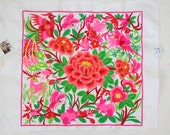 Lovely Pink Flower New Fashionable Style Embroided Fabric Thailand   (TX810-WR)