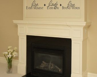 Family Vinyl Wall Decal Live Laugh Love Wall Quote Saying For Living Room Family Room Foyer