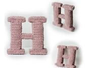Letter H Crochet Pattern, 3D Alphabet crochet pattern, 3d words pattern, 3d letters pattern, words home deco, decorative letters crochet