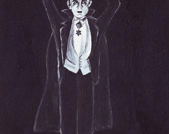 Ballet Lugosi // Bela Lugosi vampire pun art - art print