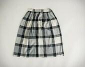 Vintage Cristin Stevens B&W Buffalo Checkered Skirt