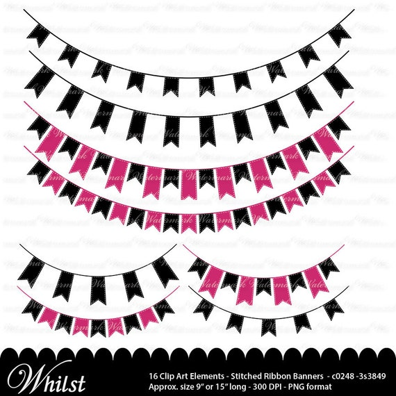 pink and black banner clip art fuschia ribbon clipart graphics rh catchmyparty com clip art banners and ribbons clip art banner letters
