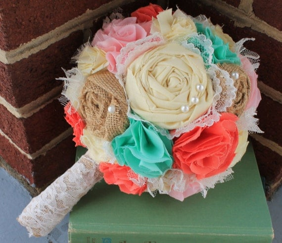 Coral And Pink Wedding Flowers: Romantic Pink Coral Mint And Butter Rustic French By