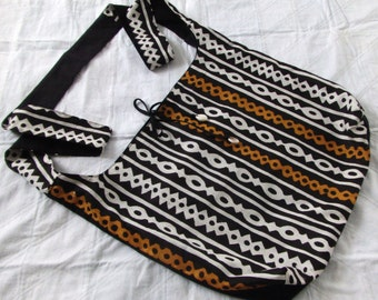 African Mudprint Sling/Hobo/Cross Body/Messenger Bag