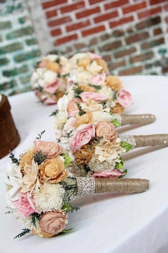 romantic wedding bouquet small alternative natural sola. Black Bedroom Furniture Sets. Home Design Ideas
