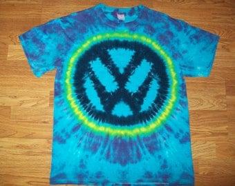 Volkswagen Tie Dye, VW tie dye, VW Emblem tie dye, Volkswagon, Blue S M L xL 2x 3x 4x 5x 6x