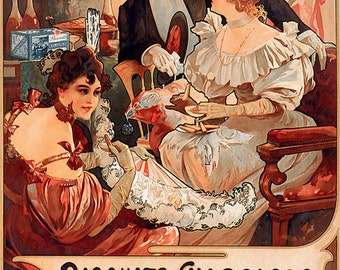 Alphonse Mucha Art Print Digital Download Advertisement