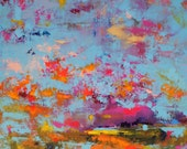 """Abstract Landscape - 'Beneath the Surface' - acrylic painting on canvas - size 90cm x 60cm (36""""x24"""")"""