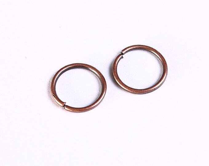 10mm antique copper jumpring - open jumpring - antique copper round jumpring - Nickel free lead free cadmium free (1051) -Flat rate shipping