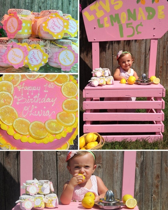 Lemonade Party - Pink Lemonade Birthday - PRINTABLE Personalized Package - Girls Birthday Party