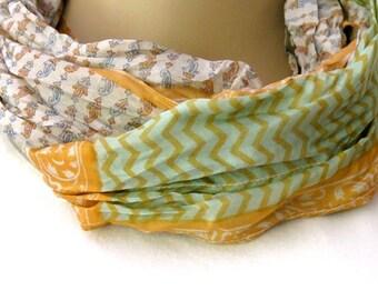 Scarf, Silk scarf, Infinity Scarf, Loop Scarf