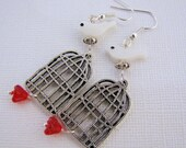Earrings, Dangle, Bird Cages
