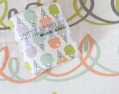 Little Hip Squeaks Organic Baby Blanket, Ice Cream Print, Baby Shower Gift, Baby Girl Blanket