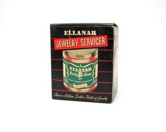 Vintage Packaging 1950s Ellanar Jewelry Cleaner Jar