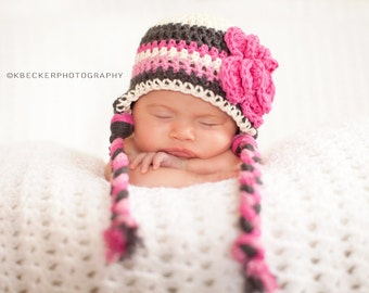 baby hat, newborn hat, little girls hat, baby girl hat, crochet baby hat, newborn girls hat, girls, girls winter hat, crochet hat for girls
