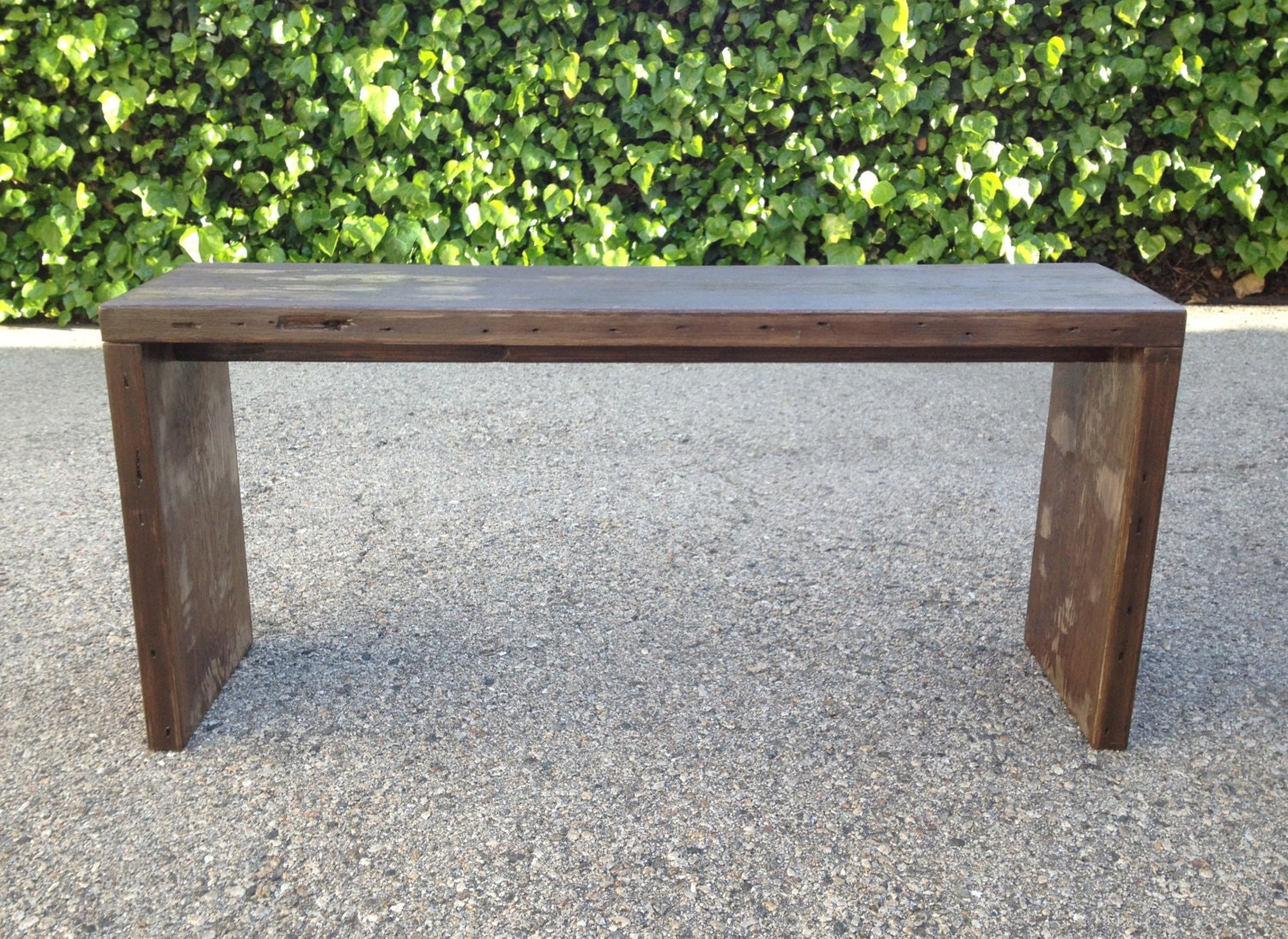 Modern Wood Bench ~ Modern reclaimed wood bench by localtimber etsy