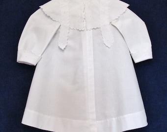 Antique spring coat for little girl,  Edwardian little girl's coat, c.1910 white cotton light weight coat