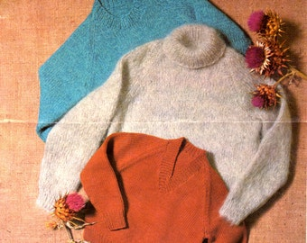 On Sale - Sirdar Knitting Pattern No 7006 for Childrens Raglan Sweaters  - Vintage 1970s
