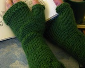 Knitted Fingerless Gloves - Medium/Large