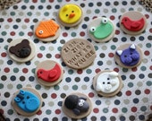 Fondant Cupcake Toppers - Brown Bear Animals Fondant Toppers - Perfect for Cupcakes, Cookies and Other Edibles