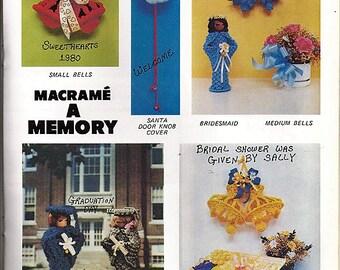 Macrame A Memory  Macrame Pattern Book Pat Depke PD 1102
