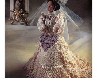 The Bridal Belle Collection Miss February Fashion Doll  Crochet Pattern  Annies Attic