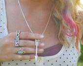 RUN WILD Arrow Necklace in Silver