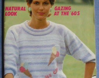 Vintage Phildar 96 Natural Look Gazing at the 60s Mens and Womens Knitting