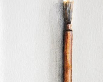 Original figurative art drawing Japanese brush number 2- small size