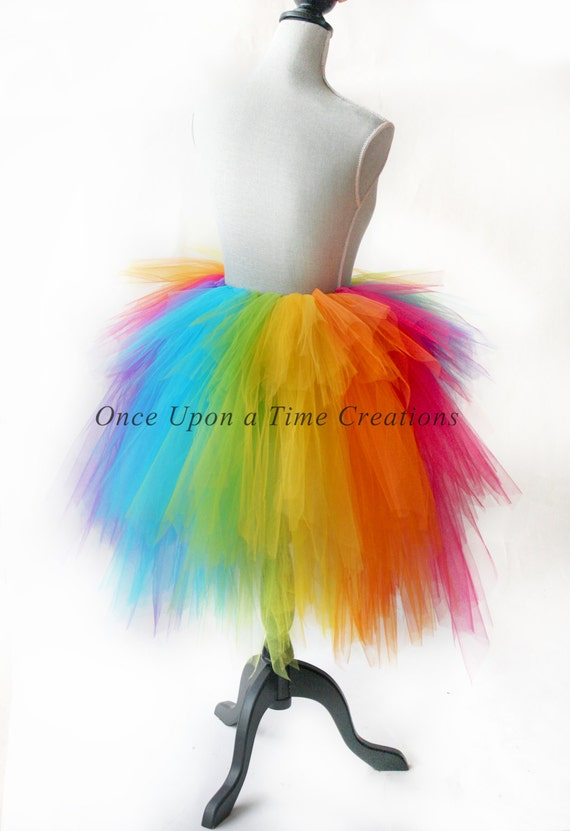 Rainbow Bustle Tutu Skirt