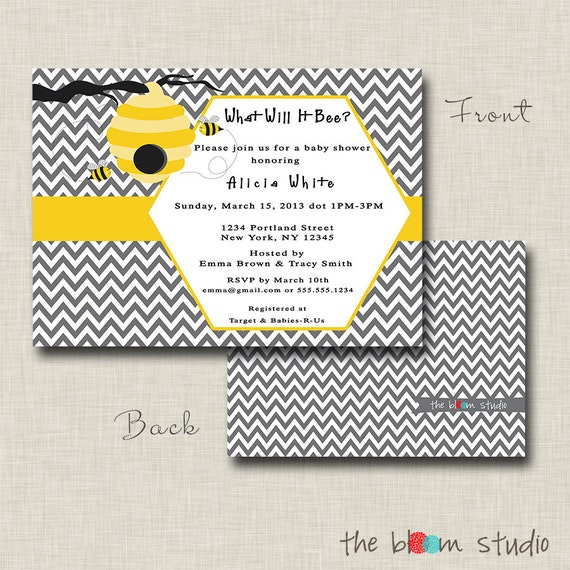 items similar to what will it bee baby shower invitation on etsy