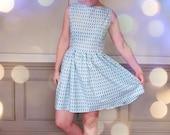The 'Macaroon' 50s Style Dress - Custom Made In Organic Cotton