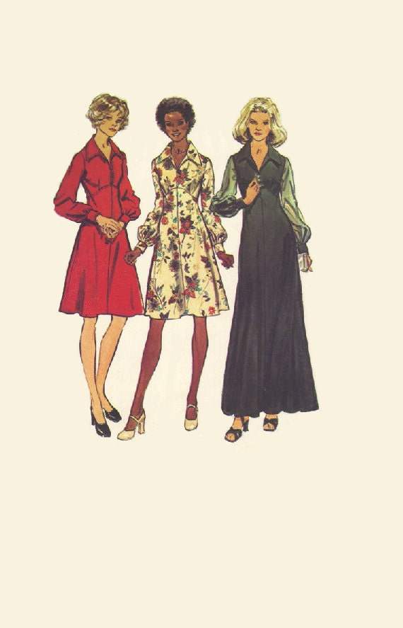 Simplicity 70s Sewing Pattern Maxi Dress By