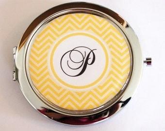 Custom compact mirror, personalized, Chevron, customizable, pocket mirror, compact mirror, monogram, monogrammed gifts, bridesmaid  (2178)