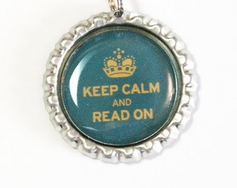Keep Calm Read On, Keep Calm Bookmark, bookmark, book mark, Shepherd Hook, gift for reader (2477)