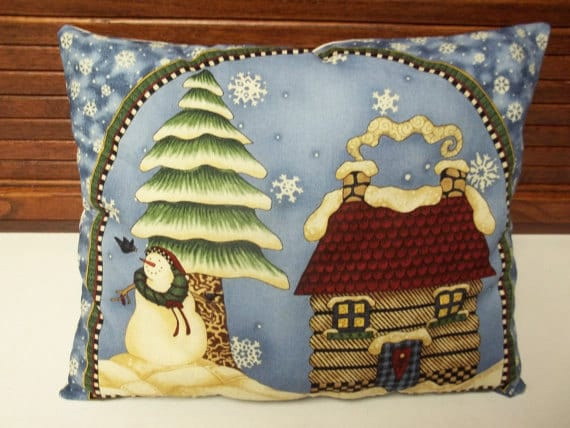 Snowman Winter Pillow