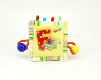 Custom developing wooden teething rattle  (age 1-3 years)
