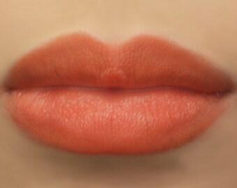 "Vegan Lipstick - ""Hibiscus"" (bright red - orange mineral lipstick) natural lip tint, balm, lip colour"