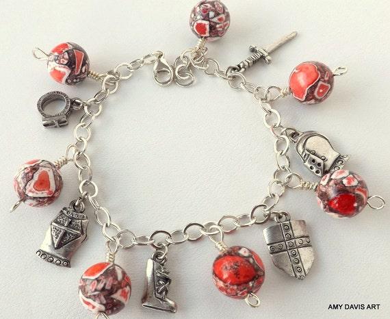 armor of god charm bracelet sterling silver bracelet armor