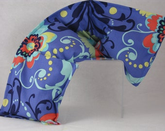 Washable Microwave Heating Pad - Blue Paisley - Heating Pad - Rice Bag or Flax