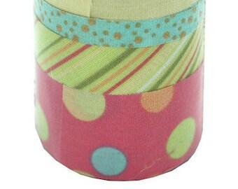 Twill Tape Ribbon Canvas Textured Fabric Pastel Self Adhesive
