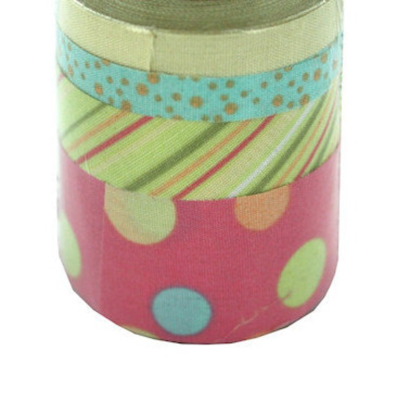 Twill Tape Ribbon Canvas Textured Fabric Pastel Self Adhesive