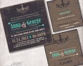 Vintage Wedding Invitation/ Bridal Shower / Birthday  / FILE ONLY