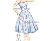 Plus Size (or any size) Vintage 1950s Petticoat Pattern - PDF - Pattern No 214 Melanie Petticoat