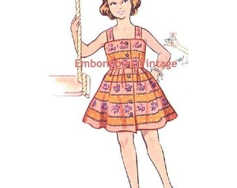 Plus Size (or any size) Vintage 1950s Dress Pattern - PDF - Pattern No 159 Annie