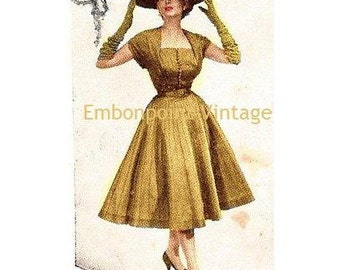 Plus Size (or any size) Vintage 1949 Dress - PDF - Pattern No 74 Carrie